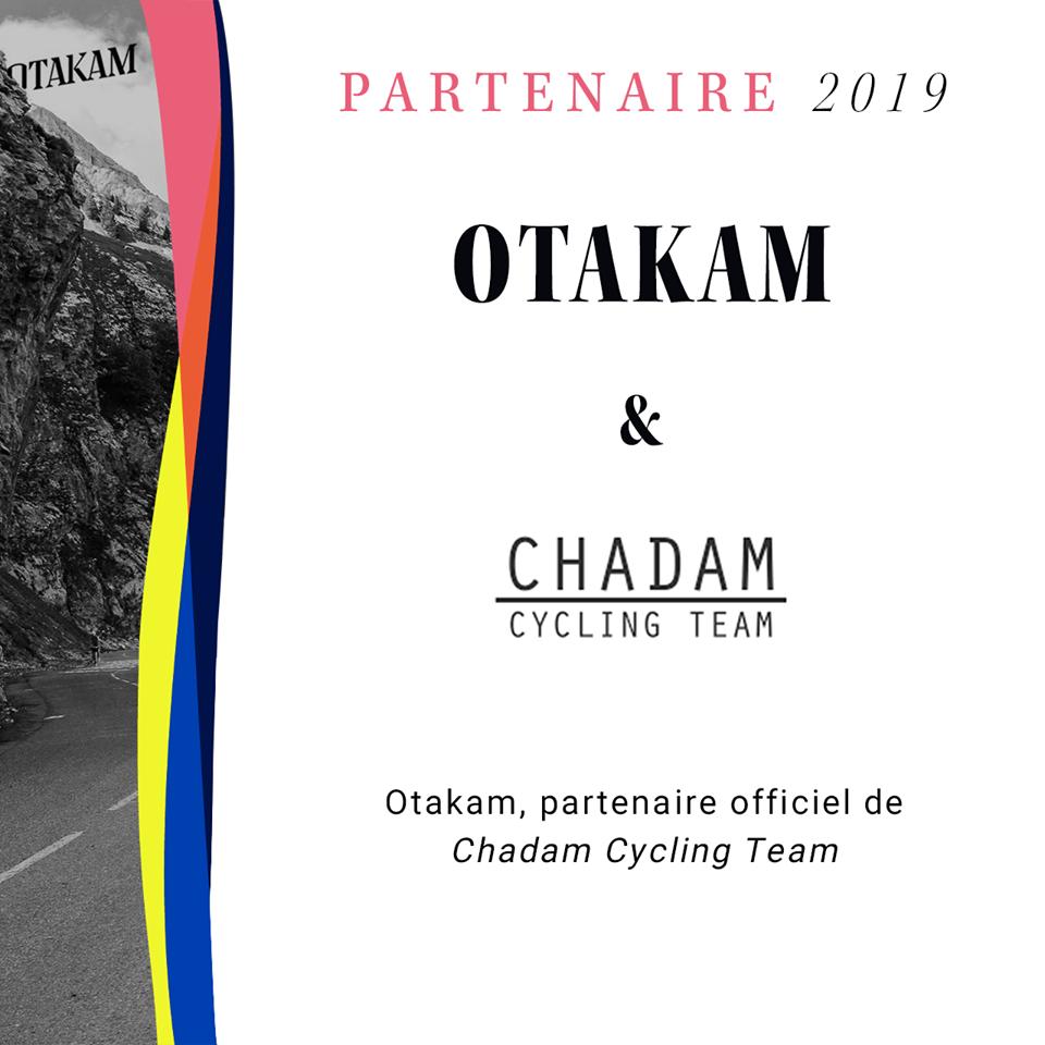 Chadam Cycling Team, partenaire Otakam 2019